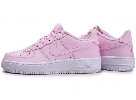 Chaussures Nike Air Force 1 rose junior vue extérieure