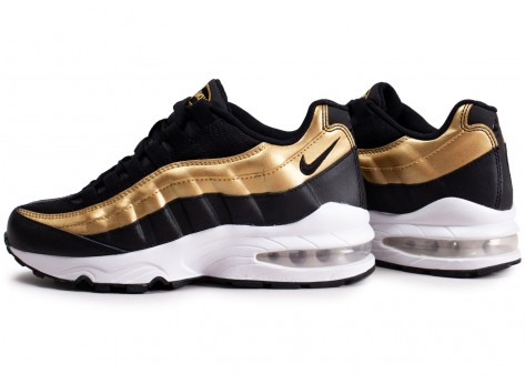 latest fashion lace up in shoes for cheap Nike Air Max 95 noir or et blanc junior