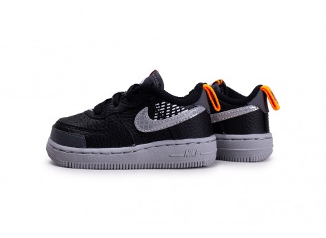 air force 1 enfant noir et orange