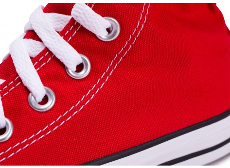 Chaussures Converse Chuck Taylor All Star Hi rouge femme vue dessus