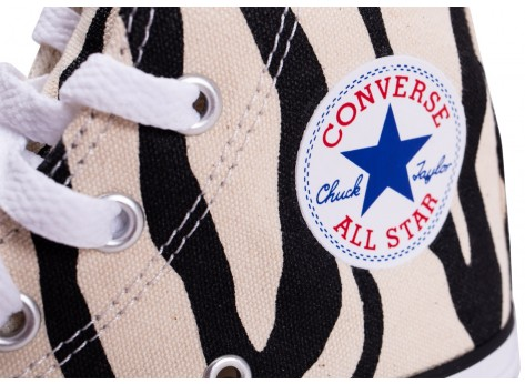 Chaussures Converse Chuck Taylor All Star High Zebra enfant vue dessus