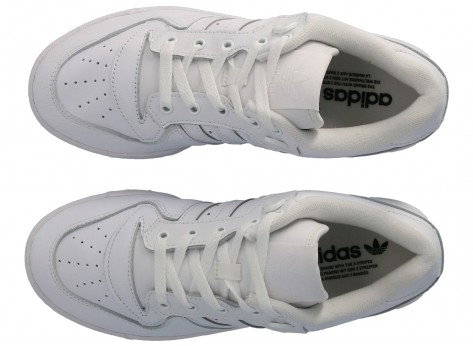 Chaussures adidas Rivalry Low blanc vue avant