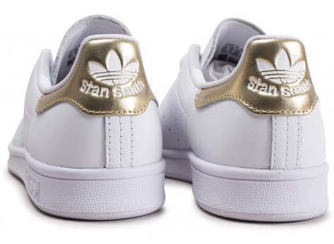 Chaussures adidas Stan Smith blanc or femme vue dessous