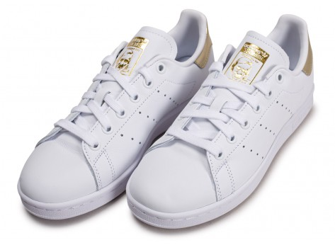 Chaussures adidas Stan Smith blanc or femme vue intérieure