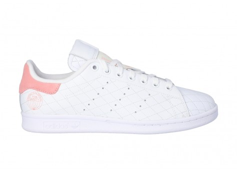 Chaussures adidas Stan Smith Cloud white Glory Pink vue extérieure