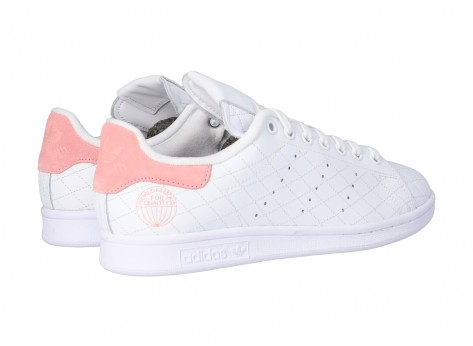 Chaussures adidas Stan Smith Cloud white Glory Pink vue arrière
