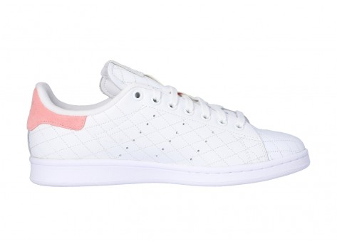 Chaussures adidas Stan Smith Cloud white Glory Pink vue dessus