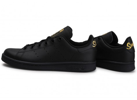 adidas stan smith noir et or