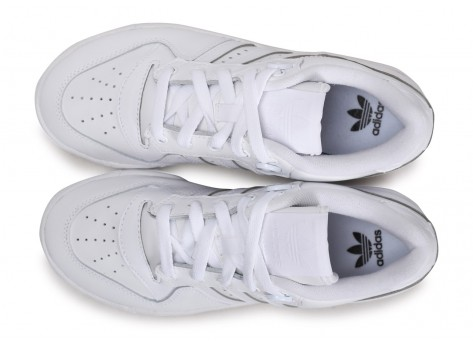 Chaussures adidas Rivalry Low blanc junior vue arrière