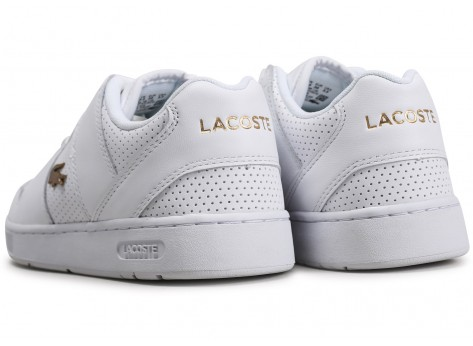 Chaussures Lacoste Thrill blanc or femme vue dessous