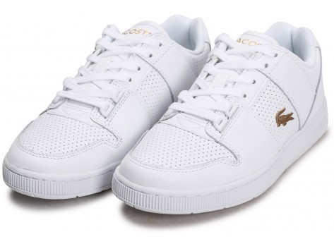 Chaussures Lacoste Thrill blanc or femme vue intérieure