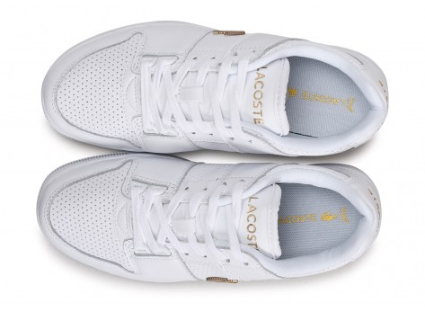 Chaussures Lacoste Thrill blanc or femme vue arrière