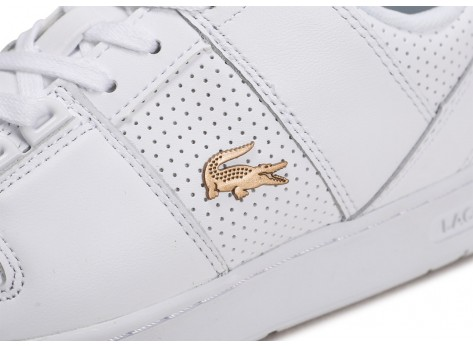 Chaussures Lacoste Thrill blanc or femme vue dessus