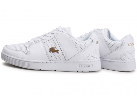 Chaussures Lacoste Thrill blanc or femme vue extérieure