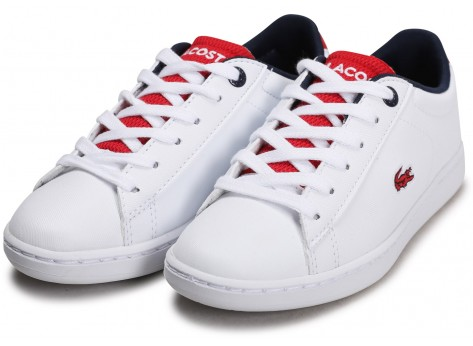 Chaussures Lacoste Carnaby Evo blanc rouge Enfant vue intérieure