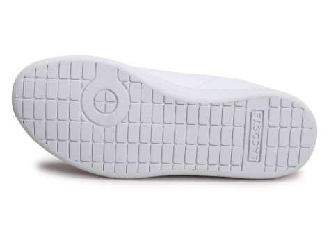 Chaussures Lacoste Carnaby Evo blanc rouge Enfant vue avant