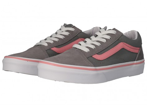 Vans Old Skool grise et rose Junior