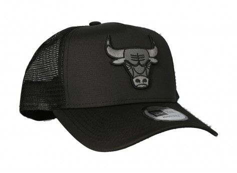 Casquettes New Era Casquette trucker tonal black Chicago Bulls ajustable