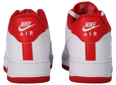 Chaussures Nike Air Force 1'07 blanc rouge vue intérieure