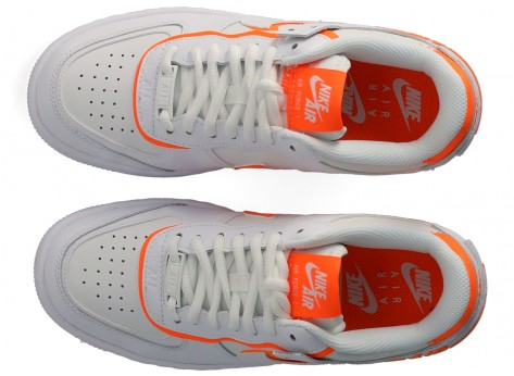 Chaussures Nike Air Force 1 Shadow blanc orange Femme vue avant