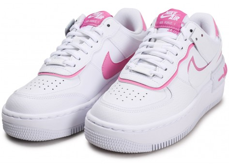Chaussures Nike Air Force 1 Shadow blanc rose Femme vue intérieure