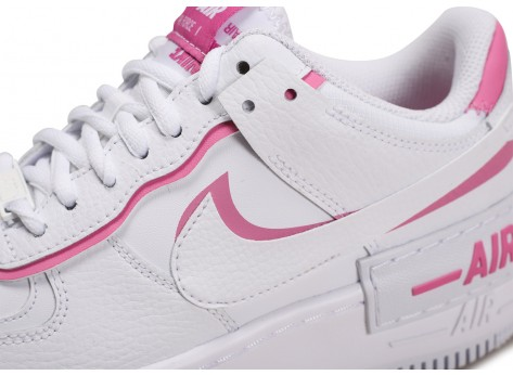 Chaussures Nike Air Force 1 Shadow blanc rose Femme vue dessus