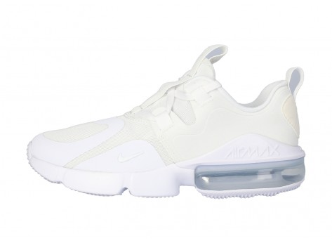 Chaussures Nike Air Max INFINITY GS Triple blanc vue extérieure