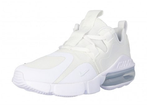 Chaussures Nike Air Max INFINITY GS Triple blanc vue intérieure
