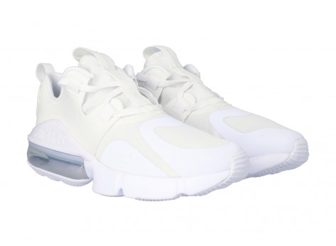 Chaussures Nike Air Max INFINITY GS Triple blanc vue arrière