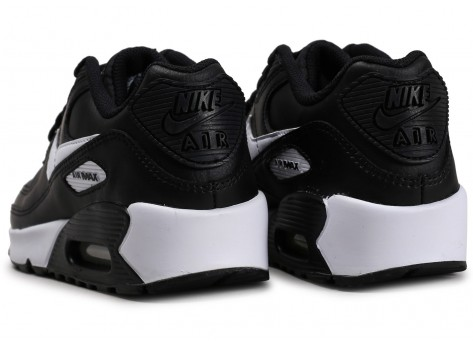 Chaussures Nike Air Max 90 Leather noir blanc junior vue dessous