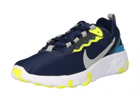 Chaussures Nike Renew Element 55 Midnight Navy GS vue dessous