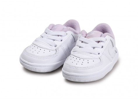 Chaussures Nike Force 1 Crib blanc lila vue intérieure