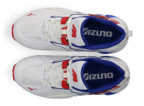 Chaussures Mizuno Rider 1 So Time blanche et rouge vue dessous