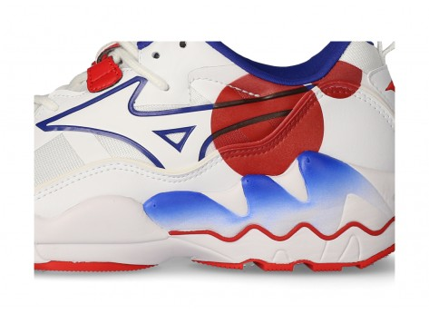 Chaussures Mizuno Rider 1 So Time blanche et rouge vue intérieure