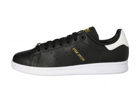 adidas Stan Smith noire blanche et or - Chaussures Baskets homme ...