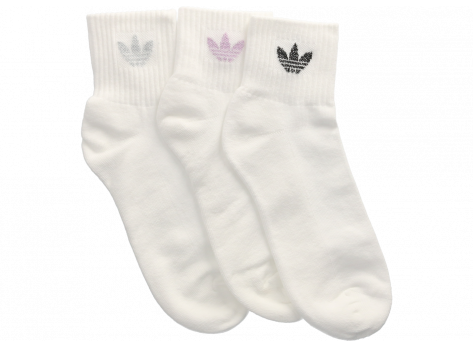 Chaussettes adidas Trio socquettes Mid-Cut blanches