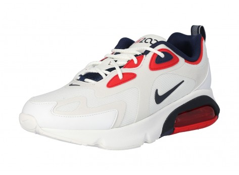 Chaussures Nike Air Max 200 blanche Obsidian vue intérieure