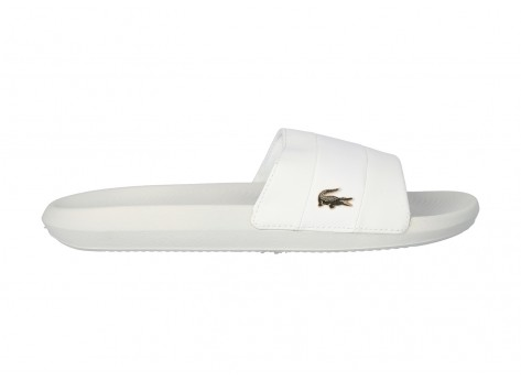 Chaussures Lacoste Sandales Croco blanches vue dessus