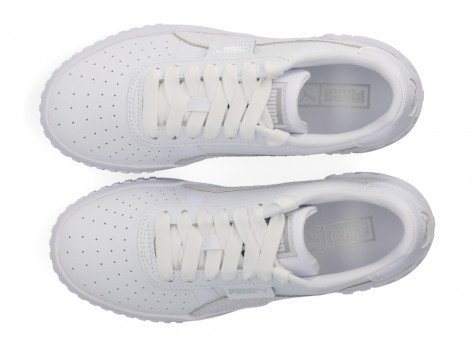 Chaussures Puma Cali Snake Femme blanche vue dessus