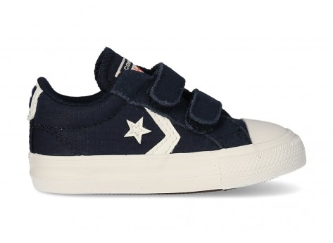 Chaussures Converse Star Player Ripstop Easy-On bleu marine Bébé vue avant