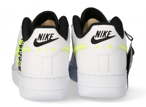 Chaussures Nike Air Force 1 LV8 blanche Volt - Pack Worldwide vue arrière