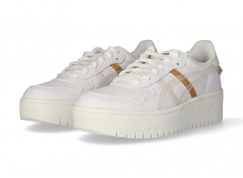 Asics Japan S Platform Femme New Strong blanche et or - Chaussures ...