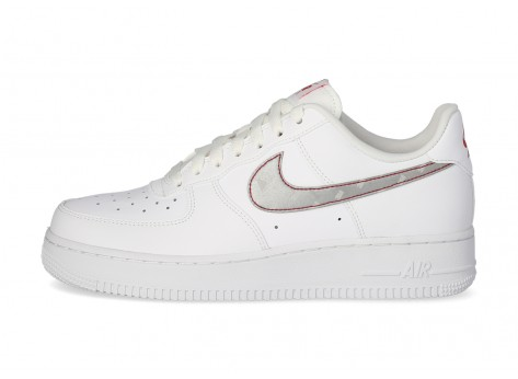 Nike Air Force 1'07 3M Swoosh blanche - Chaussures Baskets homme ...