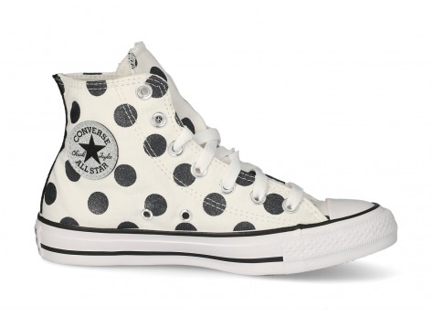 converse fille blanche