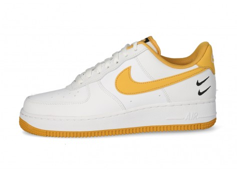 Nike Air Force 1'07 Double Swoosh blanche et jaune - Chaussures ...