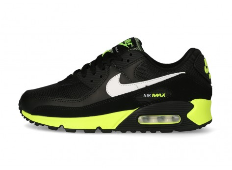 Nike Air Max 90 Homme noire hot lime - Chaussures Baskets homme - Ietp