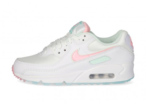 Nike Air Max 90 Easter Femme blanche et patel - Chaussures Baskets ...