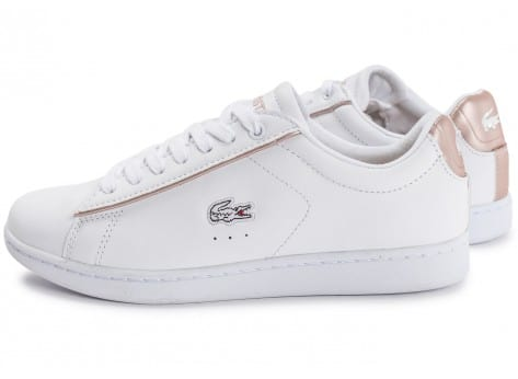 wholesale sales good selling good looking Lacoste Carnaby EVO blanche et rose perle
