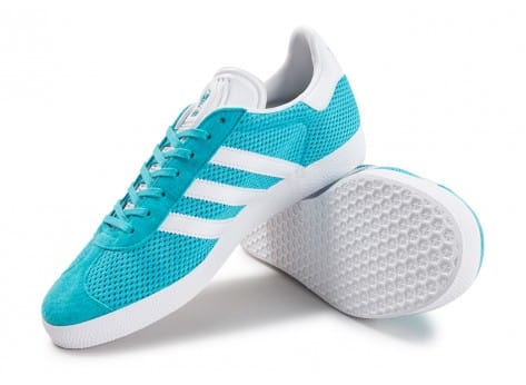 Chaussures adidas Gazelle Mesh turquoise vue avant