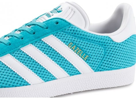 Chaussures adidas Gazelle Mesh turquoise vue dessus